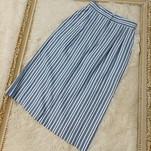 Vintage Highwaisted Striped 1980s Pencil Skirt xs